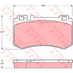 Комплект тормозных колодок, дисковый тормоз gdb1544 trw - MERCEDES-BENZ S-CLASS купе (C215) купе CL 600 (215.378)