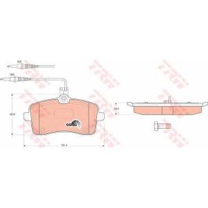 Комплект тормозных колодок, дисковый тормоз gdb1594 trw - PEUGEOT 407 (6D_) седан 2.0 Bioflex