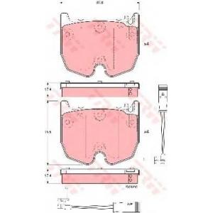 TRW GDB1599 Колодка торм. MB E-CLASS передн. (пр-во TRW)