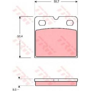 TRW GDB1641 Комплект тормозных колодок, дисковый тормоз
