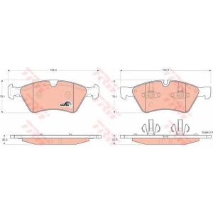 Комплект тормозных колодок, дисковый тормоз gdb1642 trw - MERCEDES-BENZ R-CLASS (W251, V251) вэн R 350 CDI 4-matic (251.023, 251.123)