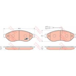 TRW GDB1681 Комплект тормозных колодок, дисковый тормоз