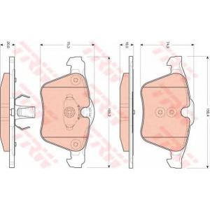 Комплект тормозных колодок, дисковый тормоз gdb1684 trw - VOLVO V60 универсал 2.0 T