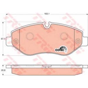 TRW AUTOMOTIVE GDB1698 Гальмівні колодки, дискові