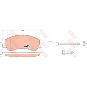 �������� ��������� �������, �������� ������ gdb1724 trw - FORD TRANSIT ������� ������� 2.2 TDCi