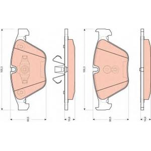 TRW AUTOMOTIVE GDB1729 Гальмівні колодки, дискові