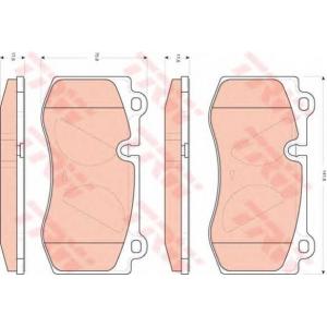 TRW GDB1733 Колодка торм. MB E-CLASS W211, S-CLASS E W221 передн. (пр-во TRW)