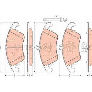 TRW GDB1737 Комплект тормозных колодок, дисковый тормоз