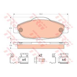 �������� ��������� �������, �������� ������ gdb1761 trw - PEUGEOT 308 (4A_, 4C_) ��������� ������ ����� 1.6 BioFlex