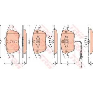 TRW GDB1762 Колодка торм. (пр-во TRW)