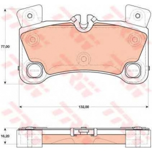 TRW GDB1775 Комплект тормозных колодок, дисковый тормоз