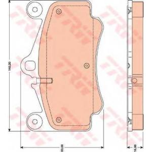 TRW GDB1778 Комплект тормозных колодок, дисковый тормоз