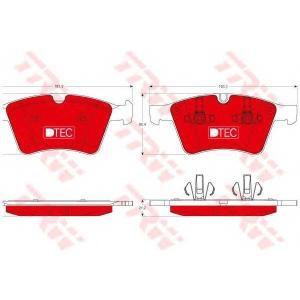 TRW GDB1797DTE KLOCKI HAMULC. MERCEDES X164 GL-KLASA  06-