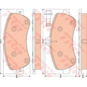 Комплект тормозных колодок, дисковый тормоз gdb1798 trw - MERCEDES-BENZ GLK-CLASS (X204) вездеход закрытый 350 (204.956)