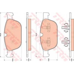 TRW AUTOMOTIVE GDB1821 Гальмівні колодки, дискові