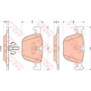 Комплект тормозных колодок, дисковый тормоз gdb1857 trw - BMW 7 (F01, F02, F03, F04) седан ActiveHybrid