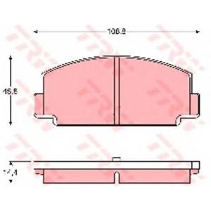 Комплект тормозных колодок, дисковый тормоз gdb186 trw - SUBARU MV (AS_) пикап 1.6