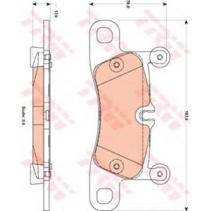 TRW GDB1875 Колодка торм. VW TOUAREG задн. (пр-во TRW)