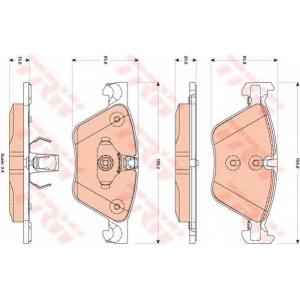 Комплект тормозных колодок, дисковый тормоз gdb1882 trw - BMW 5 (F10) седан 520 i