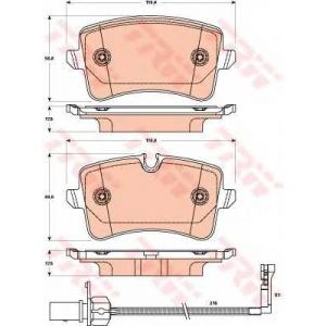 Комплект тормозных колодок, дисковый тормоз gdb1902 trw - AUDI A7 Sportback (4GA) Наклонная задняя часть 3.0 TDI