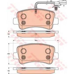 Комплект тормозных колодок, дисковый тормоз gdb1903 trw - VAUXHALL MOVANO Mk II (B) Chassis/Cab c бортовой платформой/ходовая часть 2.3 CDTI [RWD]