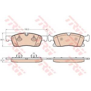 TRW GDB1946 Комплект тормозных колодок, дисковый тормоз