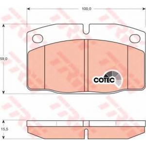 TRW GDB199 Комплект тормозных колодок, дисковый тормоз