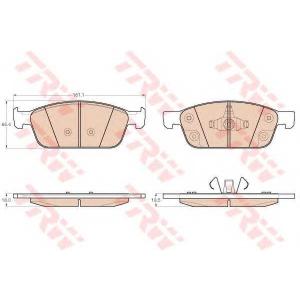 gdb2009 trw Комплект тормозных колодок, дисковый тормоз FORD FOCUS Наклонная задняя часть 1.6 TDCi