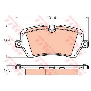 TRW GDB2029 Комплект тормозных колодок, дисковый тормоз