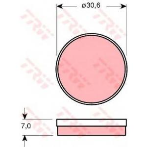TRW GDB271 Комплект тормозных колодок, дисковый тормоз