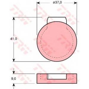 TRW GDB272 Комплект тормозных колодок, дисковый тормоз