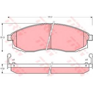 Комплект тормозных колодок, дисковый тормоз gdb3124 trw - NISSAN MAXIMA QX III (A32) седан 2.0