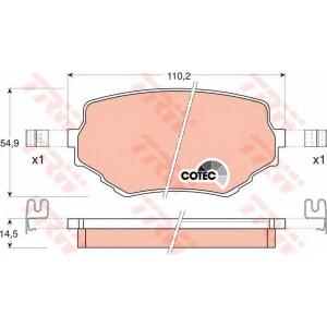 Комплект тормозных колодок, дисковый тормоз gdb3132 trw - SUZUKI VITARA (ET, TA) вездеход закрытый 2.0 V6 24V (ET)