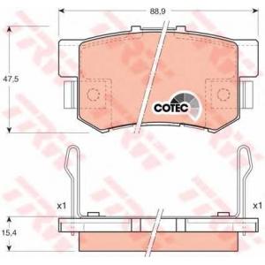 Комплект тормозных колодок, дисковый тормоз gdb3154 trw - ROVER 600 (RH) седан 620 i