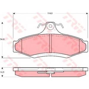 Комплект тормозных колодок, дисковый тормоз gdb3172 trw - SSANGYONG MUSSO (FJ) вездеход закрытый 3.2