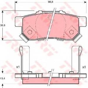 �������� ��������� �������, �������� ������ gdb3174 trw - HONDA CIVIC VI Hatchback (EJ, EK) ��������� ������ ����� 1.6 i (EK1)