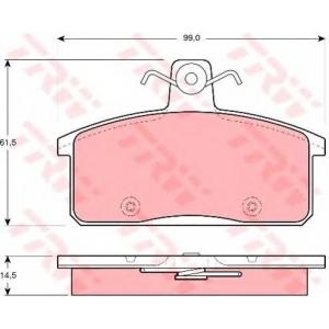 TRW GDB3202 Комплект тормозных колодок, дисковый тормоз