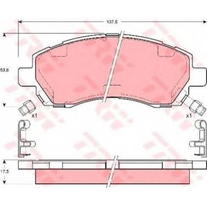 gdb3205 trw Комплект тормозных колодок, дисковый тормоз SUBARU IMPREZA седан 1.6 i AWD