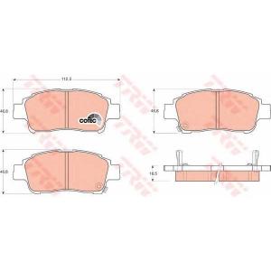 Комплект тормозных колодок, дисковый тормоз gdb3218 trw - TOYOTA YARIS (SCP1_, NLP1_, NCP1_) Наклонная задняя часть 1.0 16V