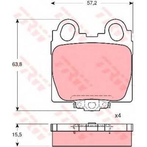 Комплект тормозных колодок, дисковый тормоз gdb3233 trw - LEXUS GS (UZS161, JZS160) седан 300 T3
