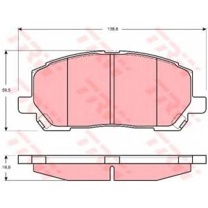 Комплект тормозных колодок, дисковый тормоз gdb3286 trw - LEXUS RX (MCU15, XU1) вездеход закрытый 300 V6