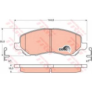 TRW GDB3287 Комплект тормозных колодок, дисковый тормоз