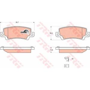 Комплект тормозных колодок, дисковый тормоз gdb3289 trw - TOYOTA COROLLA (ZZE12_, NDE12_, ZDE12_) Наклонная задняя часть 1.8 VVTL-i TS