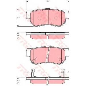 Комплект тормозных колодок, дисковый тормоз gdb3298 trw - HYUNDAI SANTA F? I (SM) вездеход закрытый 2.7 4x4
