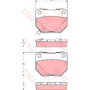 Комплект тормозных колодок, дисковый тормоз gdb3308 trw - SUBARU IMPREZA седан (GD, GG) седан 2.0 WRX Turbo