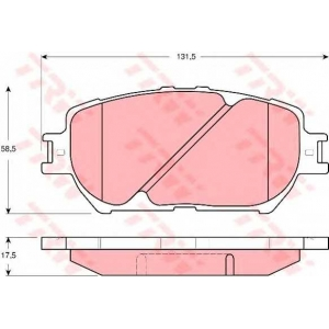 Комплект тормозных колодок, дисковый тормоз gdb3314 trw - TOYOTA CAMRY (MCV3_, ACV3_, _XV3_) седан 2.4 VVT-i