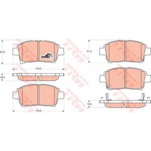 TRW GDB3317 Комплект тормозных колодок, дисковый тормоз