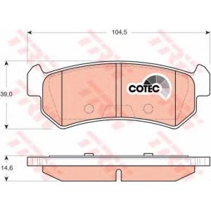 gdb3348 trw Комплект тормозных колодок, дисковый тормоз CHEVROLET NUBIRA седан 1.4