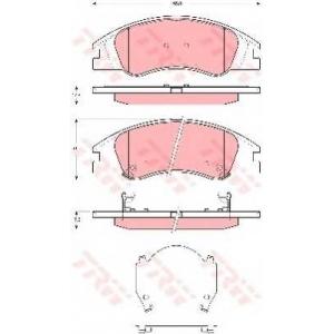 Комплект тормозных колодок, дисковый тормоз gdb3367 trw - KIA SPECTRA седан (LD) седан 1.6