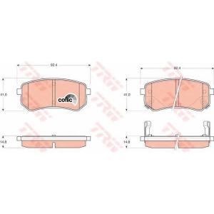 Комплект тормозных колодок, дисковый тормоз gdb3370 trw - KIA (DYK) SPORTAGE-R вездеход закрытый вездеход закрытый 2.0